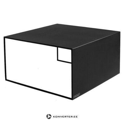 Стол журнальный (ларб) черный металл (с дефектом, образец холла)