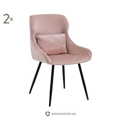 Кресло из розового бархата (с дефектами холл пробы)