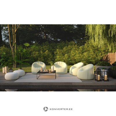 Kevyt puutarhan nojatuoli helppo (täyttö)