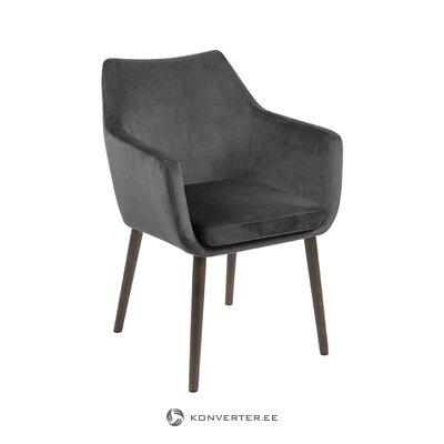 Pelēka samta krēsls Nora (Actona)