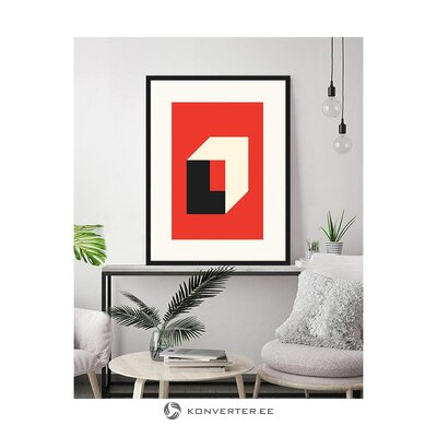 Wall picture bauhaus in red (any image)