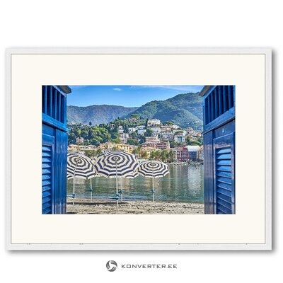 Wall picture blue paradise (any image)