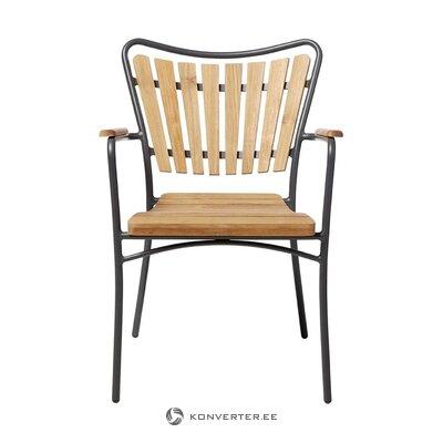 Черно-коричневый садовый стул Hard & Against (cinas)