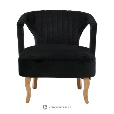 Melna samta krēsls (Lorenzo)