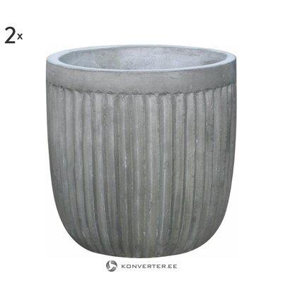 Набор цветочных горшков Пирей из 2-х предметов (комнатный)