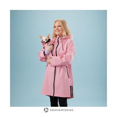 Розовая женская куртка-видимость (место для домашних животных)
