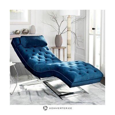 Темно-синее кресло из бархата cara (safavieh)