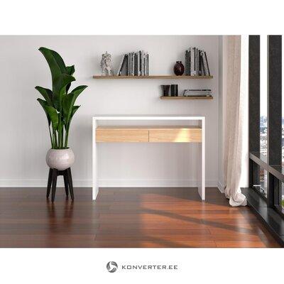 White narrow desk mia (woodman)