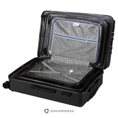 Черный средний чемодан venga