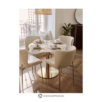 Bēša-zelta samta krēsls (Tess)