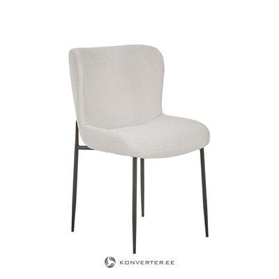 Vaaleanharmaa tuoli (tess) (salinäyte)