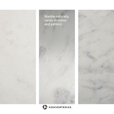 Gaišs marmora kafijas galdiņš (alys) (skaistuma defekts, zāles paraugs)