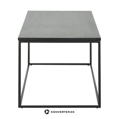 Black marble coffee table (alys) (whole, in box)
