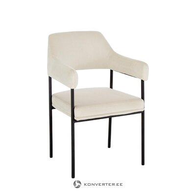 Kermanvalkoinen nojatuoli (zoe) (salinäyte pieni kauneusvirhe)