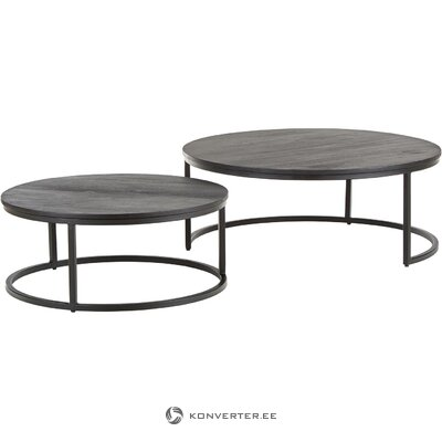 Black coffee table set (andrew) (with flaws, hall sample)