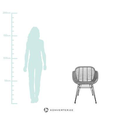 Серо-черный садовый стул (коста) (здоровый, в коробке)