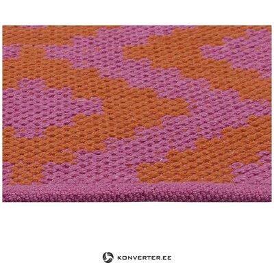 Lilla-Punane Kootud Vaip (Napua) 80x150cm