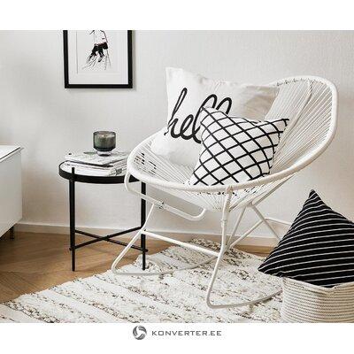 Кресло-качалка дизайн белого цвета (Грейс)