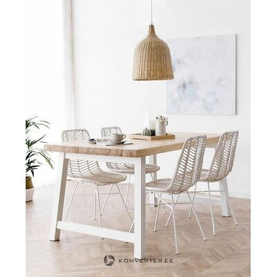 Brown and white garden chair providencia (prl)