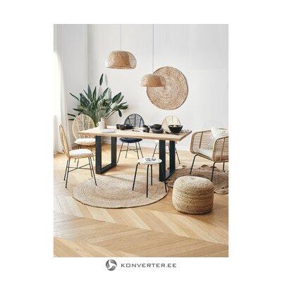 Ruskea-musta ruokapöytä (Oliver)