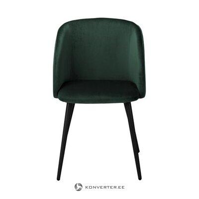 Tumši zaļa samta krēsls (yoki)