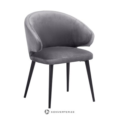 Gray-black velvet chair (celia) (small imperfections hall sample)