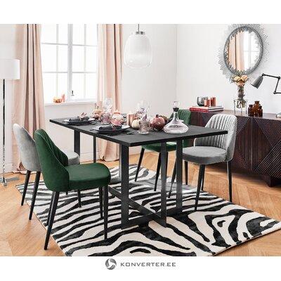 Pilka aksominė kėdė (anderson)