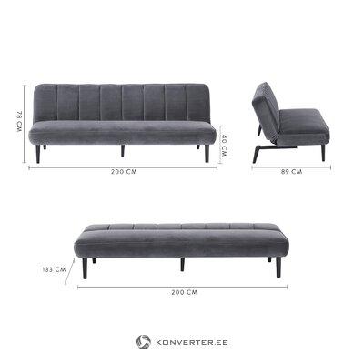 Dark gray sofa bed hayley (fabāle)