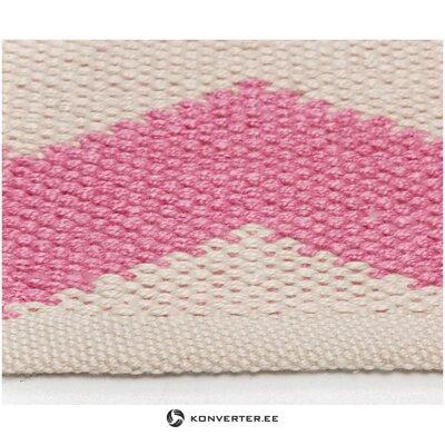 Pink and white carpet (boron) 80x150cm