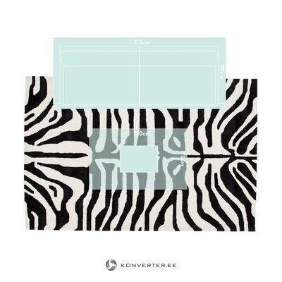 Черно-белый ковер капштадт (андерсон) 200x300 см