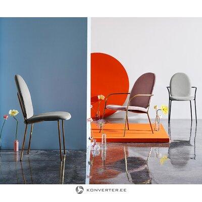 Pelēks-zelta samta krēsls (mary)