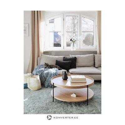 Light brown round coffee table (renee)
