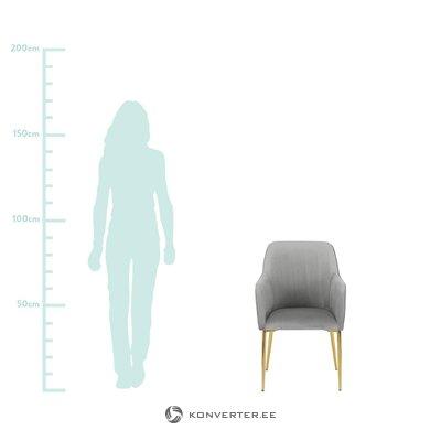 Light gray-golden velvet chair (opening)