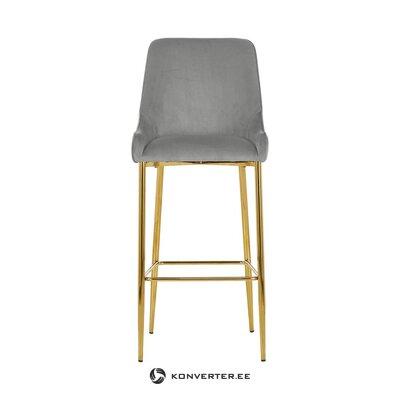 Pelēks-zelts bāra krēsls (atvere)