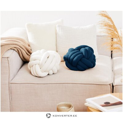 Zils dekoratīvs spilvens (vērpjot)