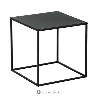 Стол журнальный черный металл (стина) (с дефектом, образец холла)