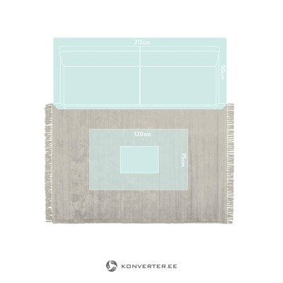 Gray viscose carpet (aria) (whole, box)