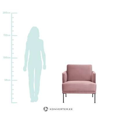 Кресло из розового бархата (fluente)