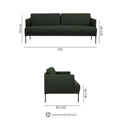 Dark green sofa fluente