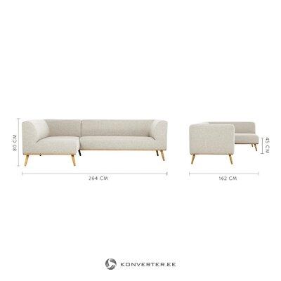 Light gray corner sofa archie (jella & jorg)