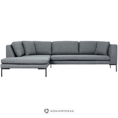 Pilka kampinė sofa (emma) (visa)