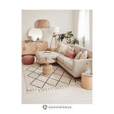 Beige corner sofa cucita
