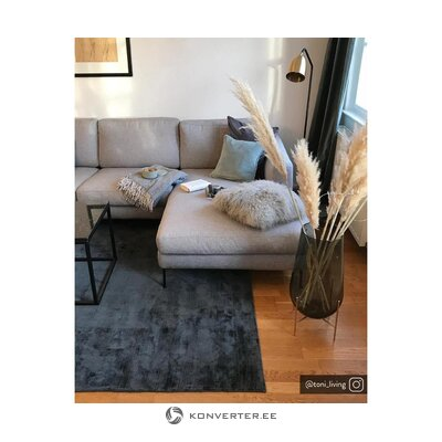 Light gray corner sofa (cucita)