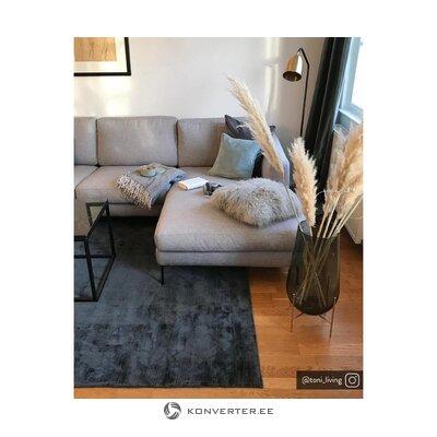 Светло-серый угловой диван (cucita)