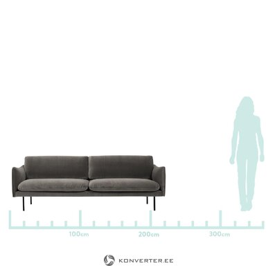 Brown velvet sofa (moby)