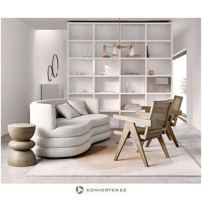 Gaiši bēšs dizaina dīvāns (zālamans)