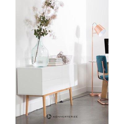 Шкаф белый глянцевый высокий (зуивер)