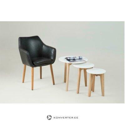 Кресло nora (actona) черное (целое образец зала)