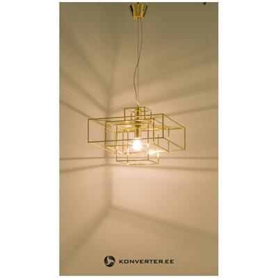 Золотой подвесной светильник cube (globen lighting)