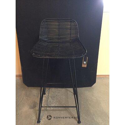 Black rattan bar stool blind (hkliving)